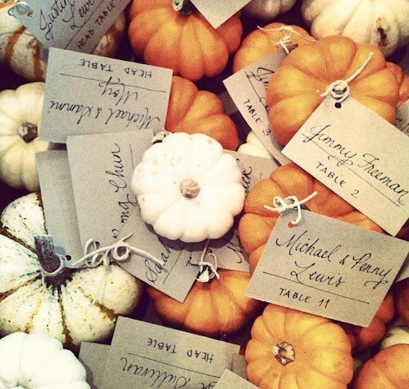 pumpkin table numbers